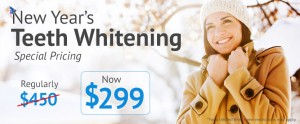 New Year's Teeth Whitening Special Price, Now $299